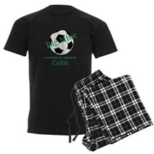 Personalised Men's Pyjamas - Football/Black/Green