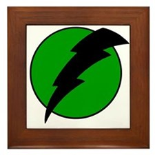 Lightning Bolt Framed Tile