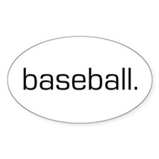 Baseball Oval Decal