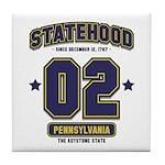 Statehood Pennsylvania Tile Coaster