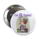 Birthday Girl 8th Birthday Button