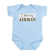 I love my Airman Infant Creeper