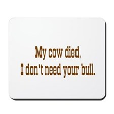 No Bull Mousepad