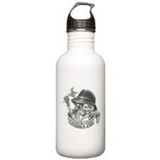 Wicked Skull with Tattoo Machine Water Bottle