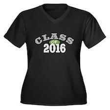 Class of 2016 Women's Plus Size V-Neck Dark T-Shir