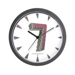 Glamor Brooch 7 Wall Clock