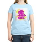 Not fat. Pregnant - Women's Pink T-Shirt