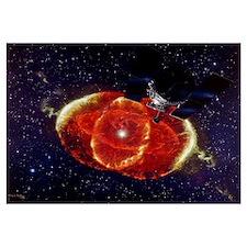 Cat's Eye Nebula and the Hubble telescope