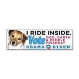 I RIDE INSIDE - CHARLIE Car Magnet 10 x 3