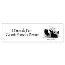 Giant Panda Bumper Sticker