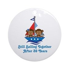 39th Anniversary Sailing Ornament (Round)