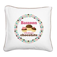 Bassoon Play For Chocolate Square Canvas Pillow