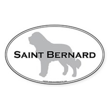 Saint Bernard Oval Stickers