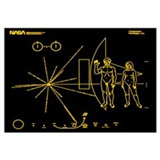 Coloured pictorial plaque on Pioneer 10 and 11