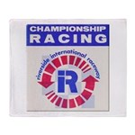 Riverside Raceway Throw Blanket