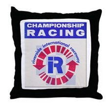 Riverside Raceway Throw Pillow
