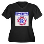 Riverside Raceway Women's Plus Size V-Neck Dark T-