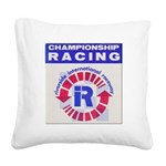 Riverside Raceway Square Canvas Pillow