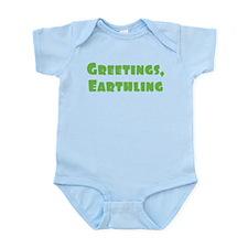 Greetings Earthling Infant Bodysuit