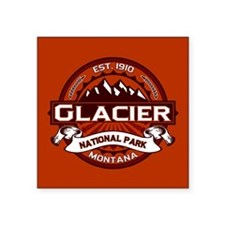 "Glacier Crimson Square Sticker 3"" x 3"""
