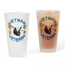 Chinook Vietnam Veteran Drinking Glass