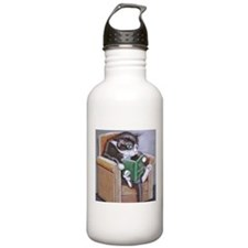 Reading Cat Sports Water Bottle