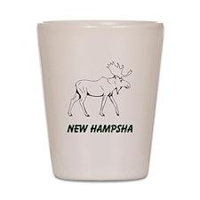 Hampsha moose Shot Glass