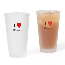 i love weasley Drinking Glass
