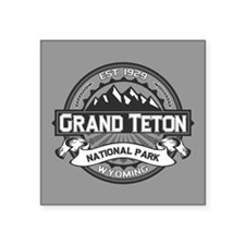 "Grand Teton Ansel Adams Square Sticker 3"" x 3"""