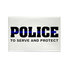 Thin Blue Line Rectangle Magnet