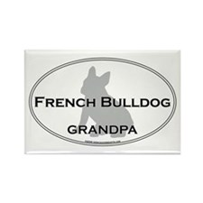 French Bulldog GRANDPA Rectangle Magnet