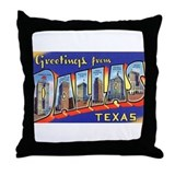 Dallas Texas Greetings Throw Pillow