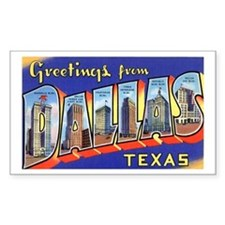 Dallas Texas Greetings Rectangle Decal