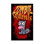 Zombie Squirrels Sticker (Rectangle)
