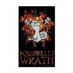 Squirrelly Wrath Sticker (Rectangle)