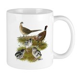 Pheasant Family Small Mug