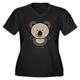 Aboriginal Koala Women's Plus Size V-Neck Dark T-S