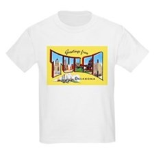 Tulsa Oklahoma Greetings (Front) Kids T-Shirt