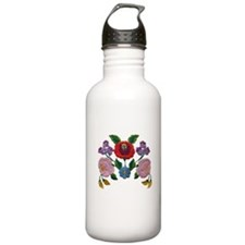 Kalocsai hand embroidery floral pattern Water Bottle