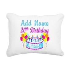 HAPPY 20TH BIRTHDAY Rectangular Canvas Pillow