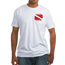 YOUR TEXT FADED DIVE FLAG Shirt