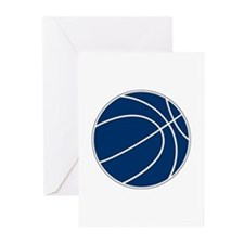 Blue and White Basketball Greeting Cards (Pk of 10