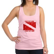 YOUR TEXT FADED DIVE FLAG Racerback Tank Top