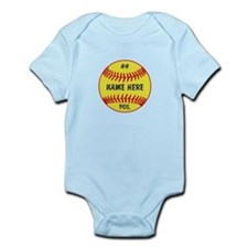 NAME NUMBER POSITION PERSONALIZED SOFTBALL Onesie