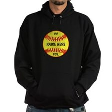 NAME NUMBER POSITION PERSONALIZED SOFTBALL Hoody