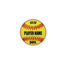 Personalized Fastpitch Softball Mini Button