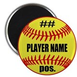 Personalized Fastpitch Softball Magnet