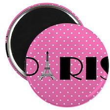 "Pink and Black Paris Eiffel Tower 2.25"" Magnet (10"