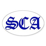 SCA Oval Decal
