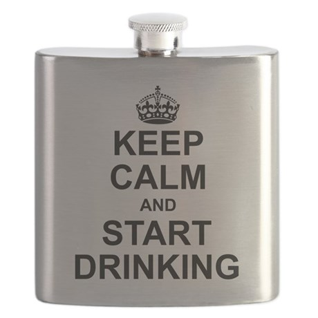Keep Calm and Start Drinking Flask